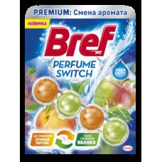 Туалетный блок для унитаза Bref Смена аромата Персик-Яблоко, 50 г
