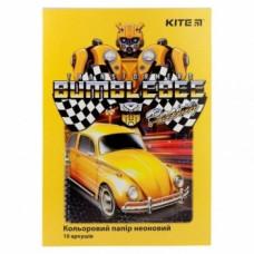Набор неоновой цветной бумаги А4 Kite Transformers, 10 листов (TF19-252)