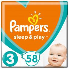 Подгузники Pampers Sleep & Play, размер 3, 6-10 кг, 58 шт
