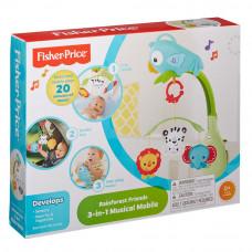 Мобиль Fisher-Price 3 в 1 Веселый попугай со звуковым эффектом (CHR11)