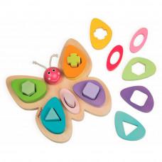 Развивающая игрушка Janod Сортер-пирамидка Бабочка (J05341)