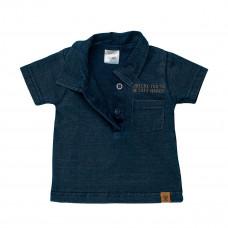 Рубашка-поло цвета индиго, р. 56 32S-16505H ТМ: Dirkje