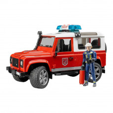 Джип Пожарный Land Rover Defender Bruder (02596)
