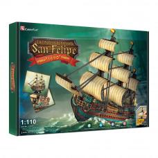 Трёхмерная головоломка-конструктор CubikFun Испанская армада Сан Фелипе (T4017h)
