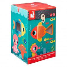 Игровой набор Океан сортер + кубики Janod  (J02785)