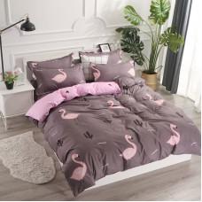 Комплект постельного белья Фламинго с простынью на резинке (двуспальный-евро)