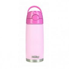 Термос-поильник Nuby, с трубочкой, 420 мл, розовый (NV0414027pnk)