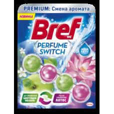 Туалетный блок для унитаза Bref Смена аромата Яблоко-Лотос, 50 г