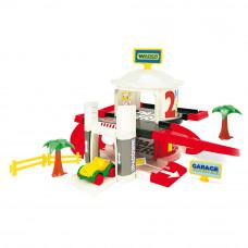 Игровой набор Wader Гараж с лифтом 2 уровня (50300)