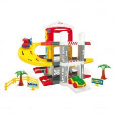 Игровой набор Wader Гараж с лифтом 3 уровня (50310)