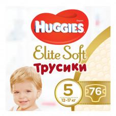 Подгузники-трусики Huggies Elite Soft, размер 5(XL), 12-17 кг, 76 шт