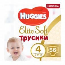 Подгузники-трусики Huggies Elite Soft, размер 4(L), 9-14 кг, 56 шт