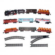 Набор Big Motors Железная дорога с 9 вагонами моторизированная (19033-8)
