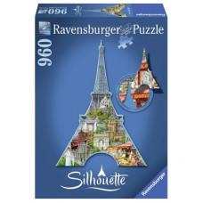 Пазл Силуэт Эйфелева башня Ravensburger (RSV-161522)