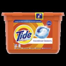 Капсулы для стирки Tide Все-в-1 Альпийская свежесть, для белых и цветных тканей, 15 шт.