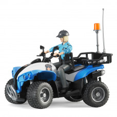 Машинка игрушечная полицейский квадроцикл и фигурка женщина Bruder (63010)