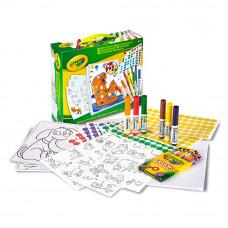 Набор картинок с наклейками Crayola (04-6801)