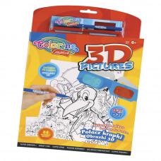 Набор для детского творчества Волшебная книжечка Соедини точки 3D Colorino 12 рисунков (31905PTR)