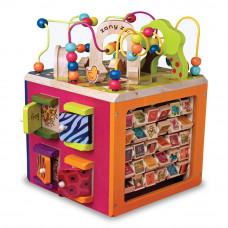 Развивающая игрушка Battat Зоо-куб деревянный (BX1004X)