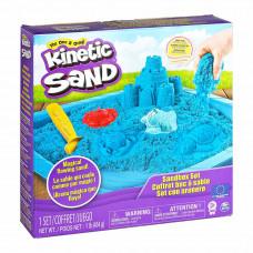 Набор кинетического песка для творчества Kinetic Sand Замок из песка голубой 454 г (71402B)
