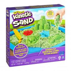 Набор кинетического песка Kinetic Sand Замок из песка зеленый 454 г (71402G)