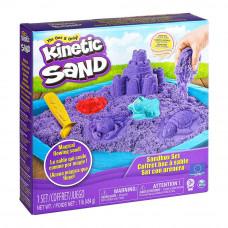 Набор кинетического песка Kinetic Sand Замок из песка фиолетовый 454 г (71402P)