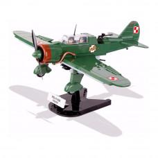 Конструктор Самолет PZL Карась P-23B COBI Вторая Мировая Война 280 деталей (COBI-5522)