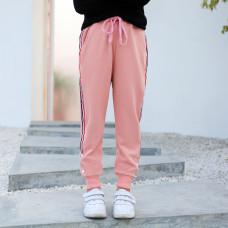 Штаны для девочки Контраст, розовый
