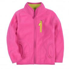 Кофта для девочки флисовая утеплённая Розовая фиалка