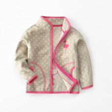 Кофта для девочки флисовая утеплённая Маленький фламинго, бежевый
