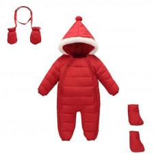 Комбинезон зимний детский 3 в 1 New Year, красный
