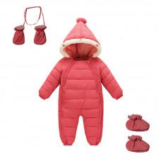 Комбинезон зимний для девочки 3 в 1 New Year, розовый