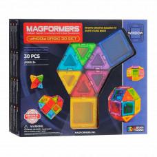 Магнитный конструктор Базовый Супер 3Д набор Magformers 30 элементов  (714002)