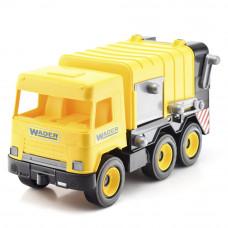 Машинка Middle truck мусоровоз Wader желтый в коробке (39492)