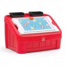 Комод для игрушек и стол для творчества 2 в 1 Step2 Box & art 48х78х48 см красный (848900)
