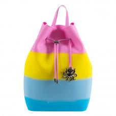 Рюкзак Tinto Zipline силиконовый розово-желто-синий (ZP11.48)