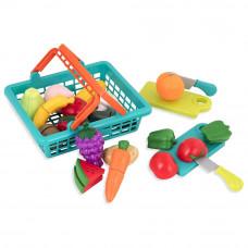 Игровой набор Battat Lite Овощи-фрукты на липучках в корзинке (BT2534Z)