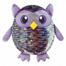 Мягкая игрушка Shimmeez Яркая сова с пайетками 36 см (SMZ01003)