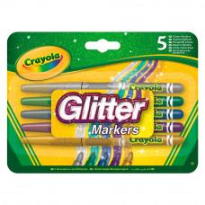 Фломастеры с блестками Crayola 5 шт (58-8645)