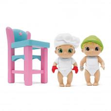 Игровой набор Baby Secrets Пупсы со стульчиком для кормления (77023)