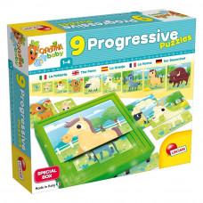 Пазл Lisciani Baby 9 Progressive Ферма на ступенях (58440)