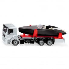 Грузовик игрушечный Siku с моторной лодкой (2715)