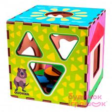 Игрушка для развития Quokka Интерактивный куб-сортер 16х16 (QUOKA003A)
