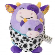 Мягкая игрушка с прорезывателем Baby Team Зверюшки 2 в 1 Коровка (8536/1)