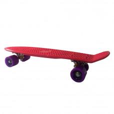 Скейт Go Travel Penny board красный с фиолетовым (LS-P2206RPS)