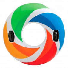 Круг надувной Intex Цветной вихрь 122 см (58202EU)