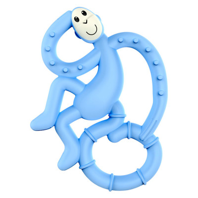 Прорезыватель Matchstick Monkey Маленькая обезьянка голубой (MM-МMT-007)