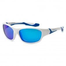 Солнцезащитные очки Koolsun Sport бело-голубые до 12 лет (KS-SPWHSH006)