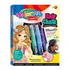 Мел Colorino 5 цветов для волос металлизированный (37046PTR)