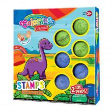 Набор Colorino Динозавры 6 штампов 2 подушечки (36681PTR)